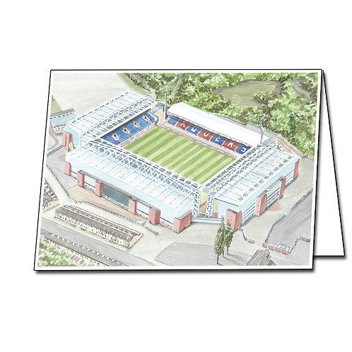 Blackburn Rovers Football Club - Ewood Park - Greetings Card Landscape, A5/A6