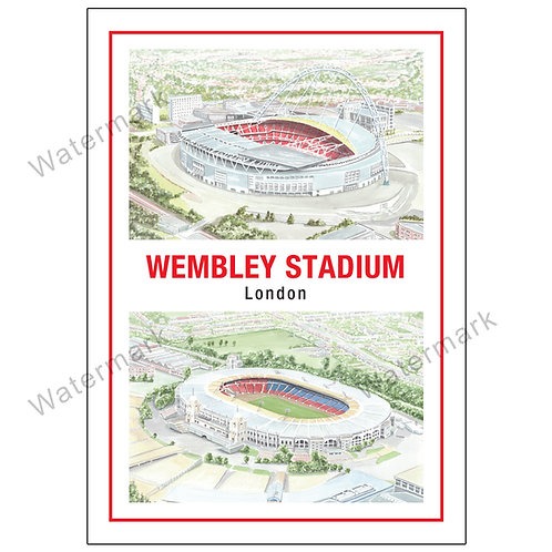 Wembley Stadium Past and Present, Limited Edition Print A4 / A3