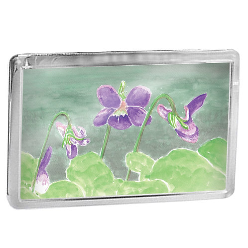 Violets - Fridge Magnet