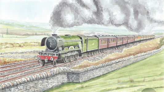 The Flying Scotsman, Across The Yorkshire Dales