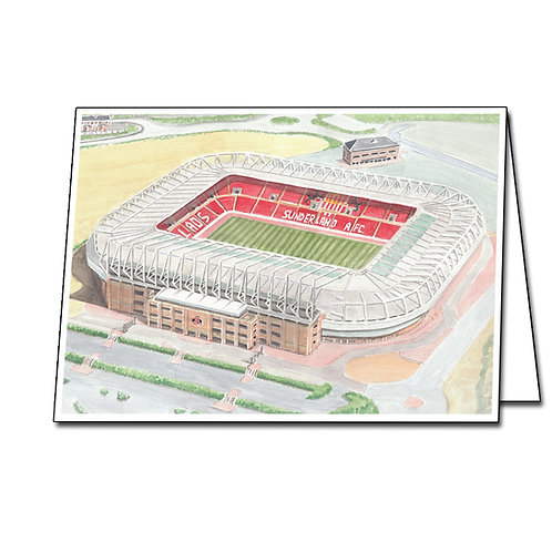 Sunderland - The Stadium Of Light - Greetings Card Landscape, A5/A6