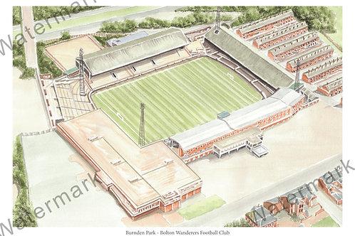 Bolton Wanderers - Burnden Park, Print A4 or A3