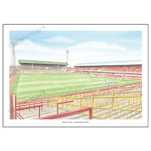 Sunderland AFC - Inside Roker Park, Print A4 or A3