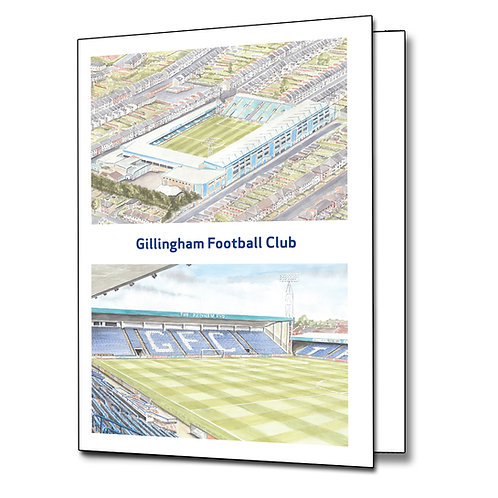 Gillingham - Two Views - Greetings Card Portrait, A5/A6