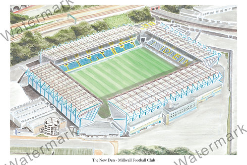 Milwall FC - The New Den, Print A4 or A3