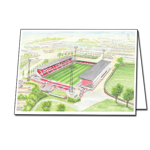 Swindon Town - The County Ground - Greetings Card Landscape, A5/A6