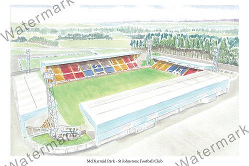 St Johnstone FC - McDiarmid Park, Print A4 / A3