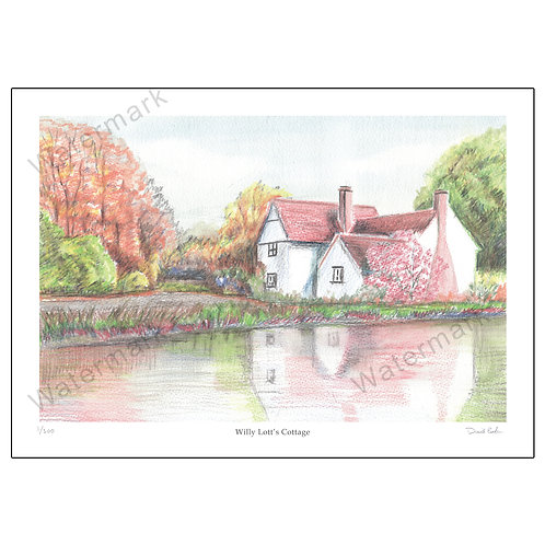 Willy Lott's Cottage , Limited Edition Print A4 or A3