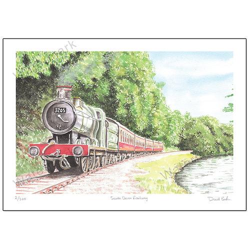 South Devon Railway,  Print A4 or A3