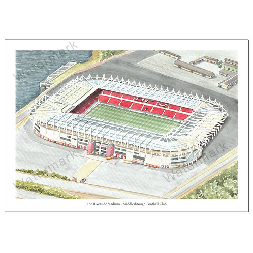 Middlesbrough Football Club - The Riverside Stadium, Print A4 or A3