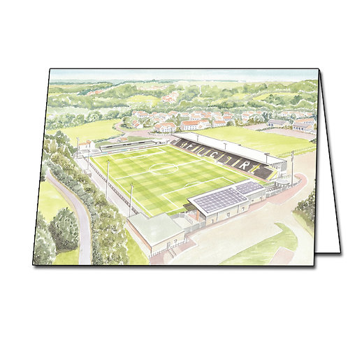 Forest Green Rovers Football Club - The New Lawn Stadium - Greetings Card A6/A5