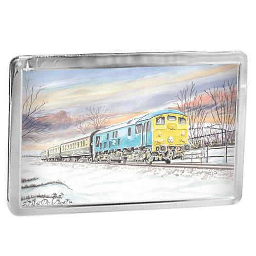 Class 24 Diesel Locomotive On The GWR - Fridge Magnet