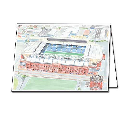 Rangers - Ibrox Stadium - Greetings Card Landscape, A5/A6