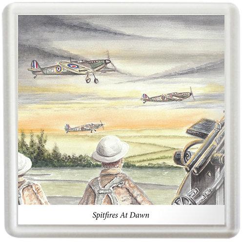 Spitfires At Dawn - Coaster