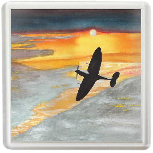 Spitfire Into Sunset - Coaster