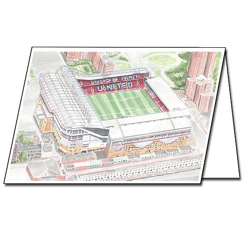 West Ham United, Upton Park - Greetings Card Landscape, A5/A6