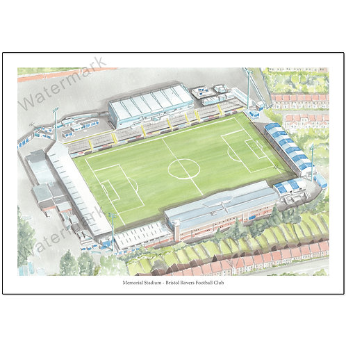 Memorial Stadium - Bristol Rovers Football Club, Limited Edition Print A4 / A3