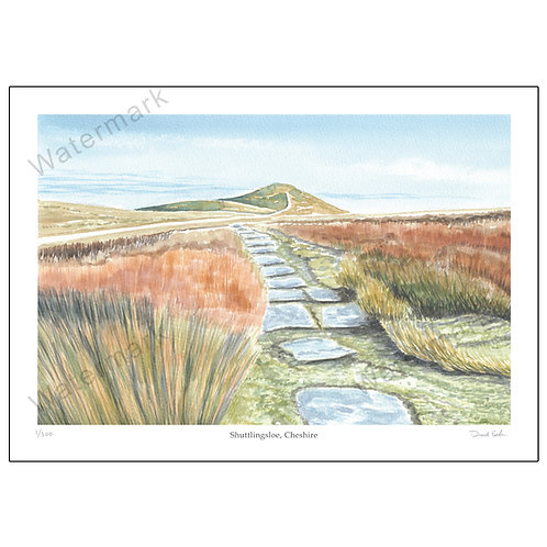 Shuttlingsloe, Cheshire, Limited Edition Print A4 or A3