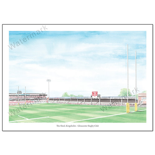 Gloucester Rugby, The Shed Poster Print A4 / A3