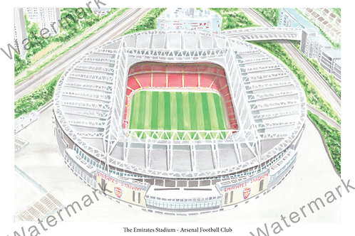Arsenal - Emirates Stadium, , Limited Edition Print A4 / A3