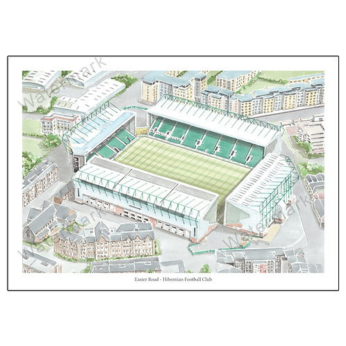 Hibernian Football Club - Easter Road, Print A4 / A3