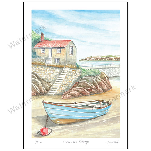 Fisherman's Cottage, Print A4 or A3