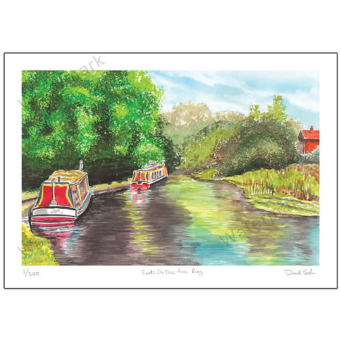 Boats on the Avon Ring, Print A4 or A3