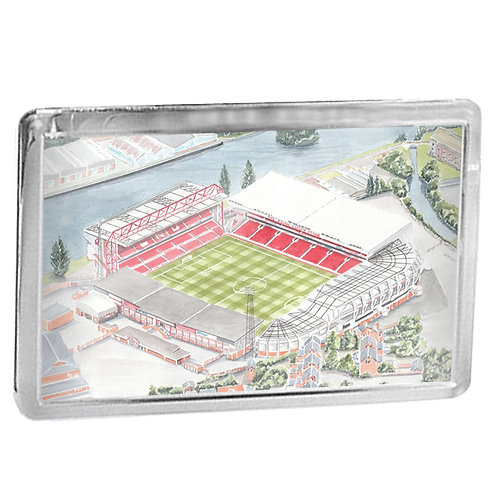 Nottingham Forest - City Ground - Fridge Magnet
