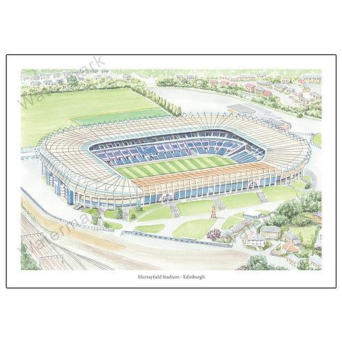 Murrayfield Stadium - Edinburgh Print A4 / A3