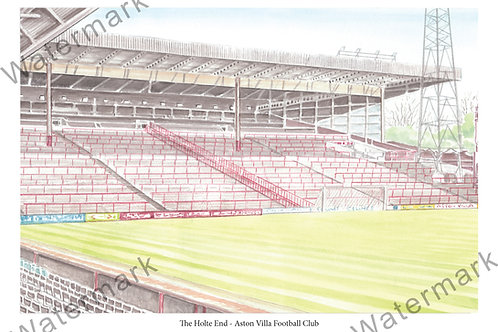 Aston Villa - The Holte End Bygone, Limited Edition Print A4 / A3