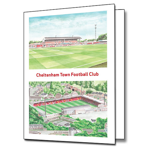Cheltenham Town - Two Views - Greetings Card Portrait, A5/A6