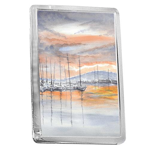 Harbour Reflections - Fridge Magnet