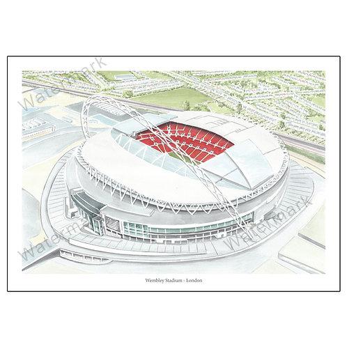 Wembley Stadium Study 2 - London, , Limited Edition Print A4 / A3
