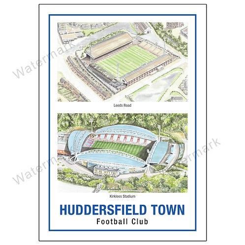 Huddersfield Town FC - Stadiums, Print A4 or A3