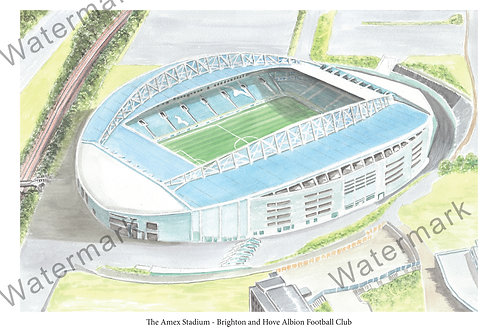 Brighton & Hove Albion - The Amex Stadium, Limited Edition Print A4 / A3