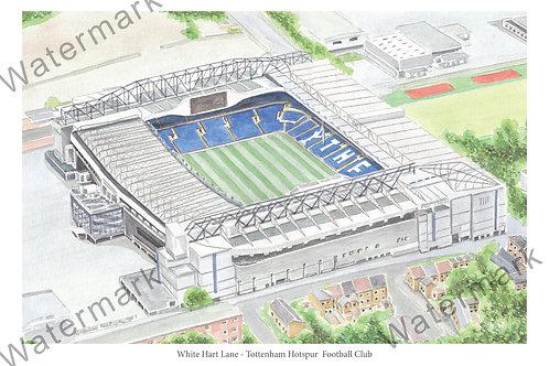 Tottenham Hotspur, White Hart Lane, Limited Edition Print A4 / A3