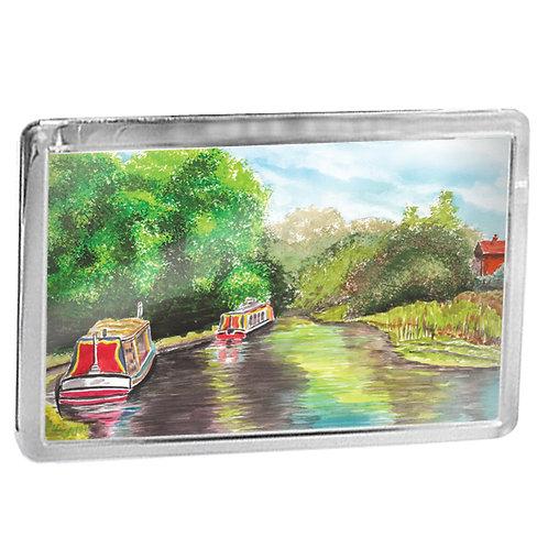 Boats on the Avon Ring - Fridge Magnet