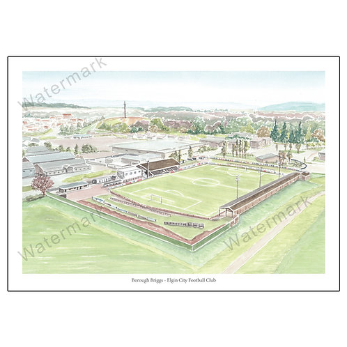 Elgin City Football Club - Borough Briggs, Print A4 / A3