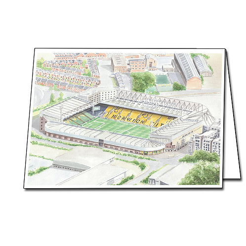 Norwich City - Carrow Road - Greetings Card Landscape, A5/A6