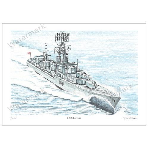 HMS Barrosa - Limited Edition,  Print A4 or A3