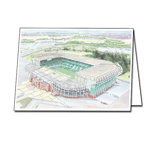 Celtic - Celtic Park - Greetings Card Landscape, A5/A6