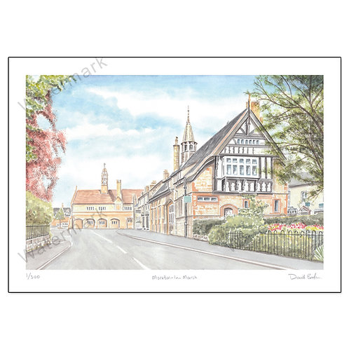 Moreton-In-Marsh - Limited Edition,  Print A4 or A3