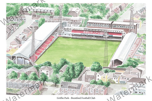 Brentford F.C - Griffin Park, Print A4 or A3