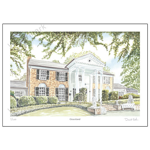 Graceland, Limited Edition Print A4 or A3