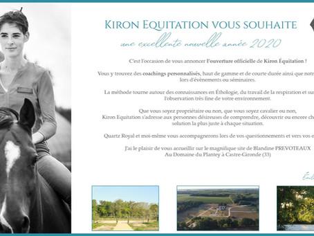 Ouverture de Kiron Equitation et ... Joyeuse nouvelle année !