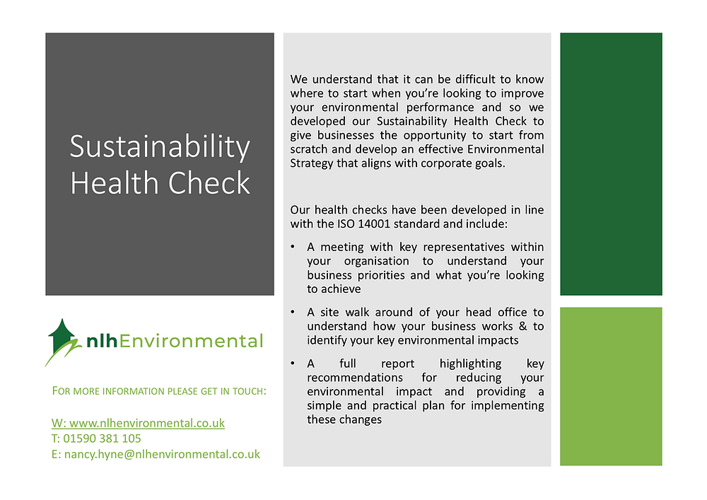 nah Environmental Sustainability Health Check