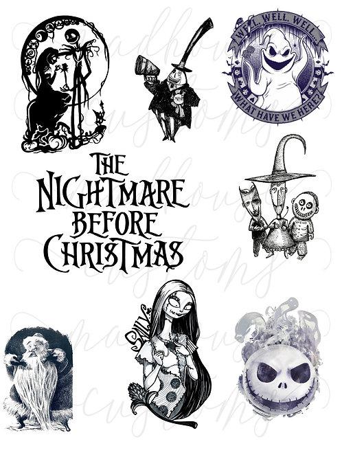 Nightmare Before Christmas Fan Sheet #2-Digital File