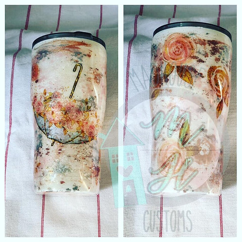 Floral Watercolor Tumbler