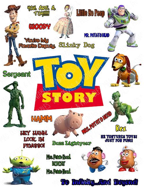 Toy Story Fan Sheet #1-Digital File