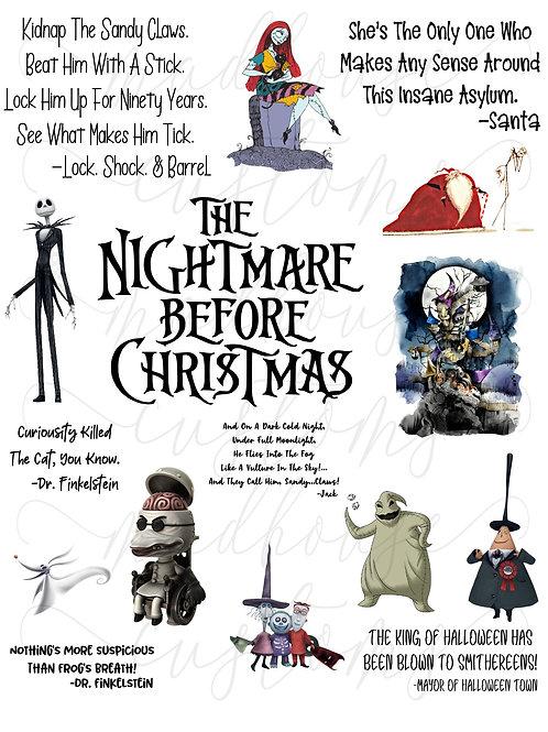 Nightmare Before Christmas Fan Sheet #1